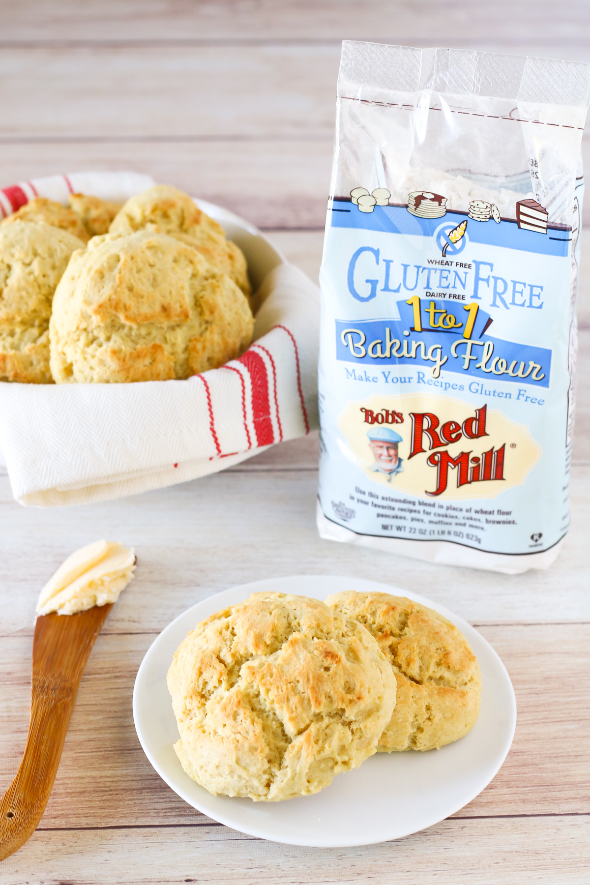 Gluten Free Vegan Drop Biscuits. Made with Bob's Red Mill Gluten Free 1-to-1 Baking Flour. These biscuits are warm, fluffy and oh so tender!