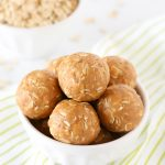 Peanut Butter Energy Bites. These little bites are made with just 4 ingredients and are great for on-the-go!