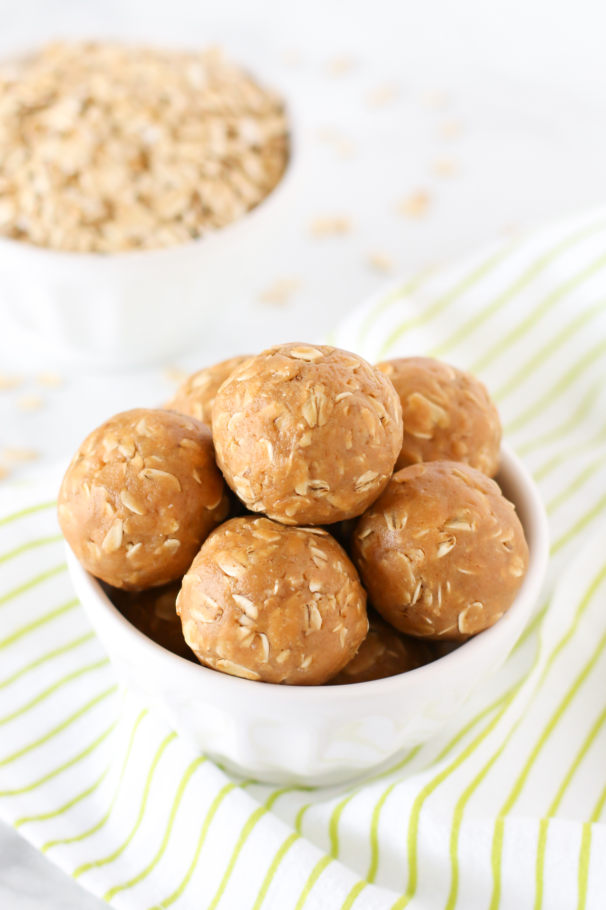 Peanut Butter Energy Bites. These little bites are made with just 4 ingredients and are great for on-the-go snacking!