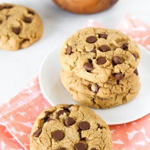 gluten free vegan peanut butter chocolate chip cookies