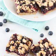 gluten free vegan blueberry crumb bars