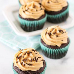 gluten free vegan chocolate peanut butter cupcakes