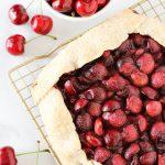 gluten free vegan cherry crostata