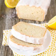 gluten free vegan glazed lemon pound cake