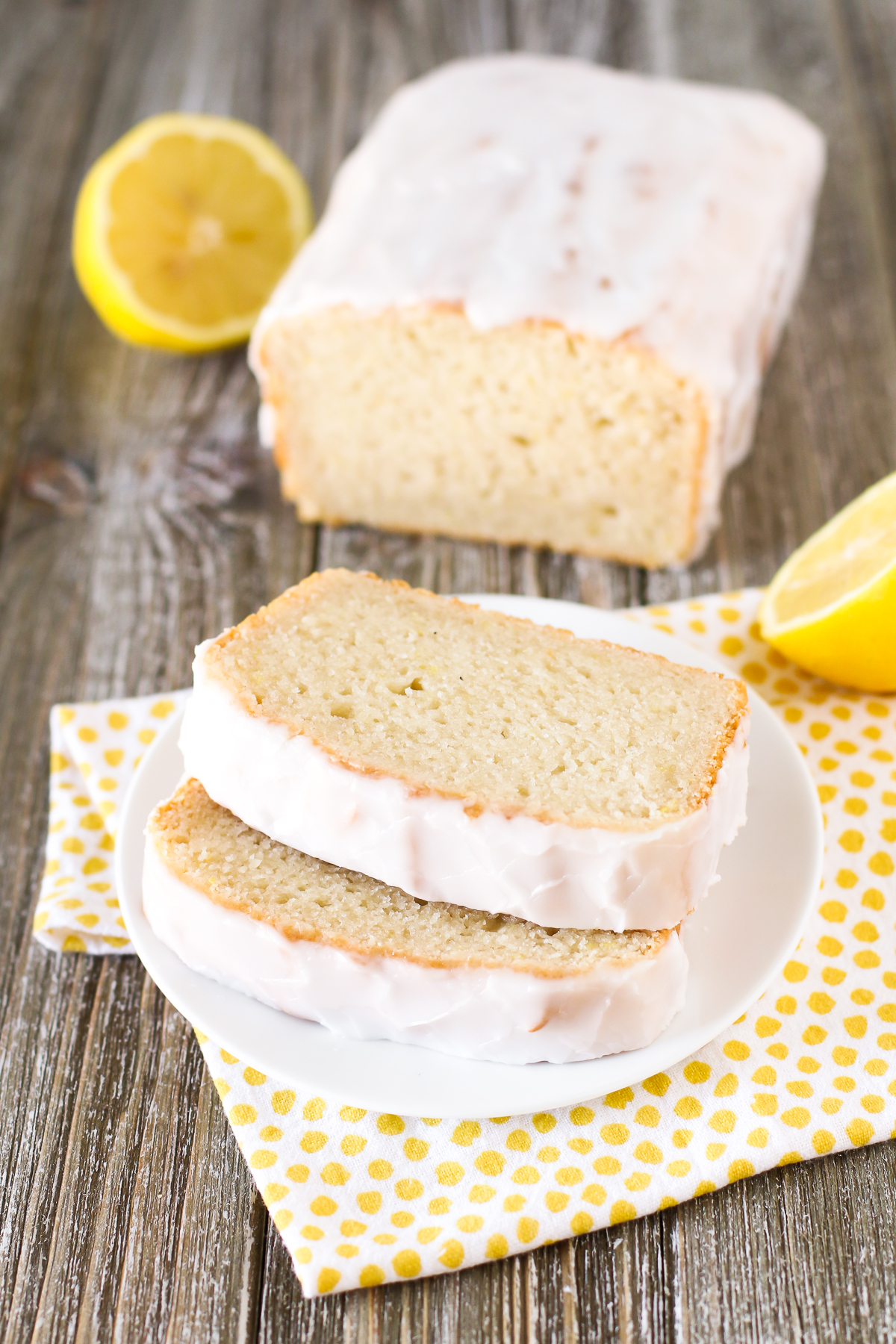 Gluten Free Vegan Glazed Lemon Pound Cake. Moist lemon cake with a simple glaze. You will for sure go back for a second slice!