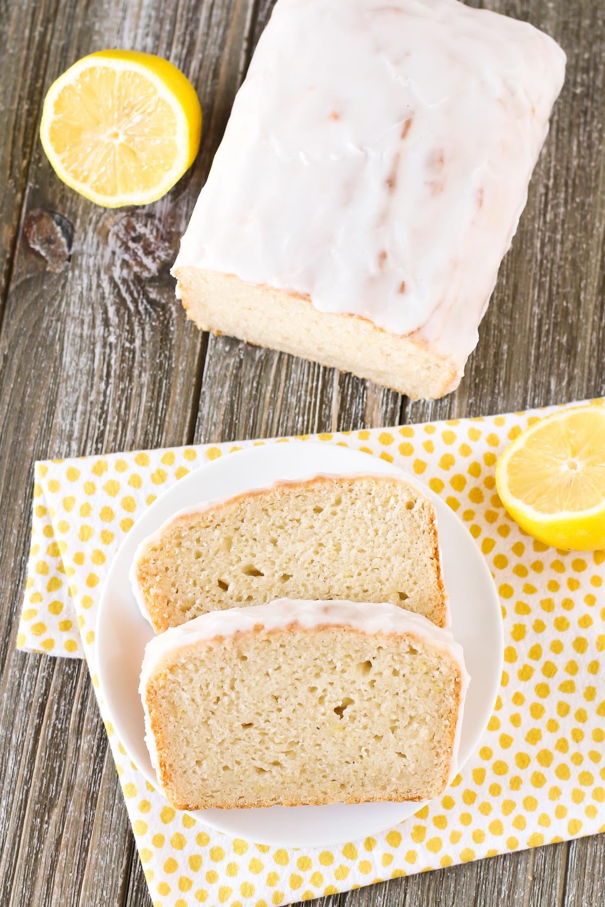 Gluten Free Vegan Glazed Lemon Pound Cake. Moist lemon cake with a simple lemon glaze. You will for sure go back for a second slice!