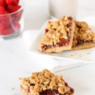 gluten free vegan raspberry almond breakfast bars