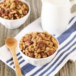 Gluten Free Vegan Pumpkin Spice Granola. For all of the pumpkin spice lovers out there, this homemade granola is for you!