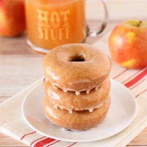 Gluten Free Vegan Baked Apple Cider Donuts. Warm, cake-like apple cider donuts with a simple cinnamon glaze. This recipe is fall-tastic!