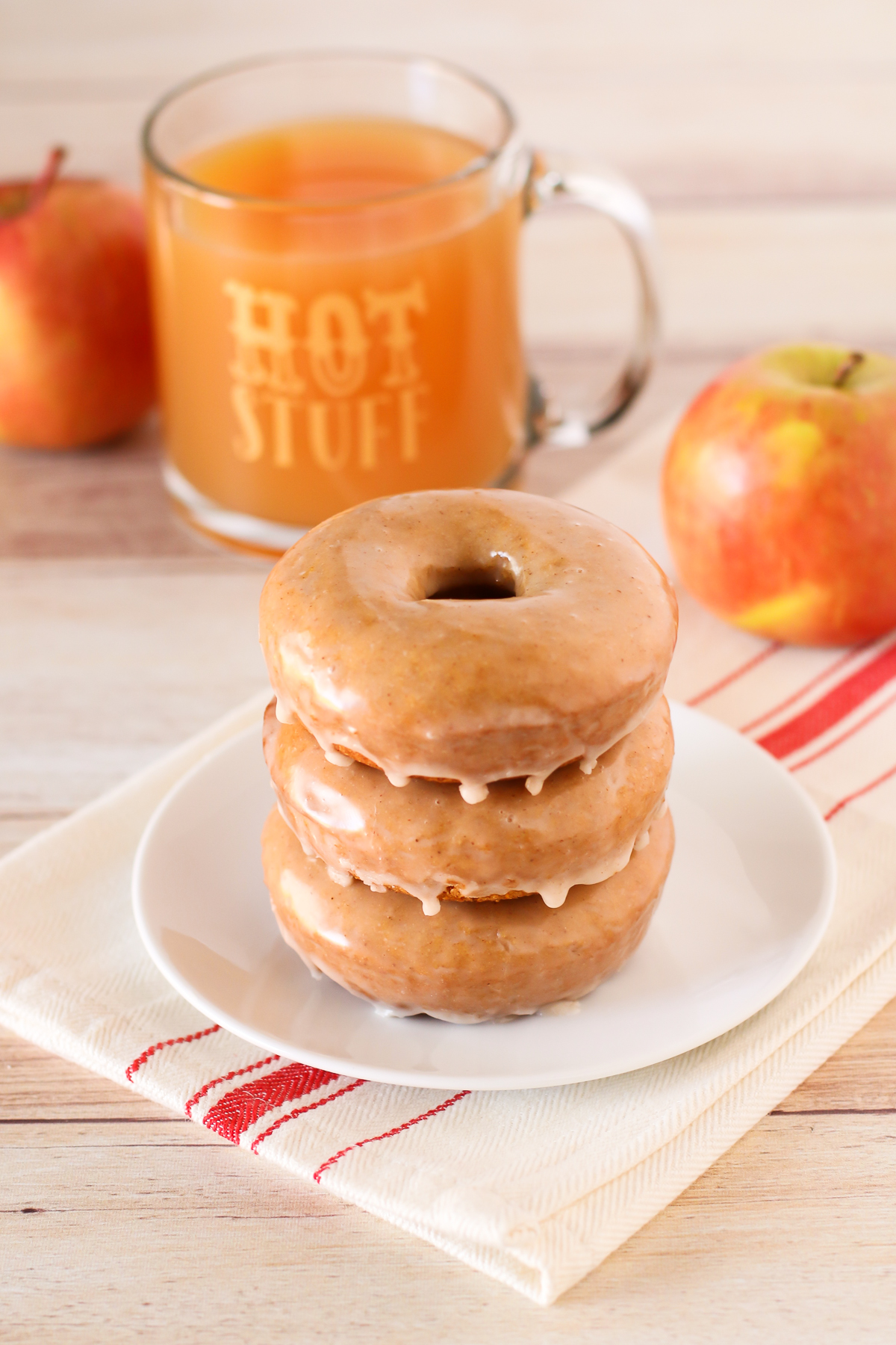Gluten Free Vegan Baked Apple Cider Donuts. Warm, cake-like apple cider donuts with a simple cinnamon glaze. This recipe is fall-tastic!