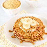 gluten free vegan banana oat blender pancakes