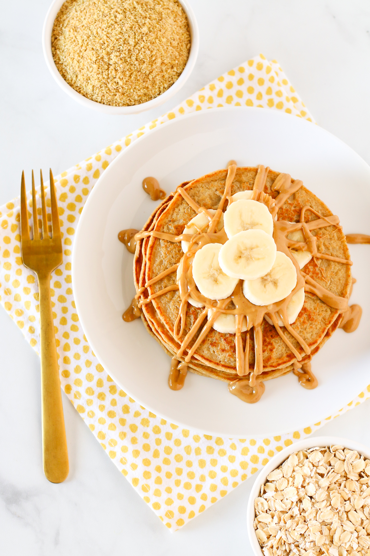 Gluten Free Vegan Blender Pancakes. These pancakes are nutrient-dense and perfect for those busy mornings.