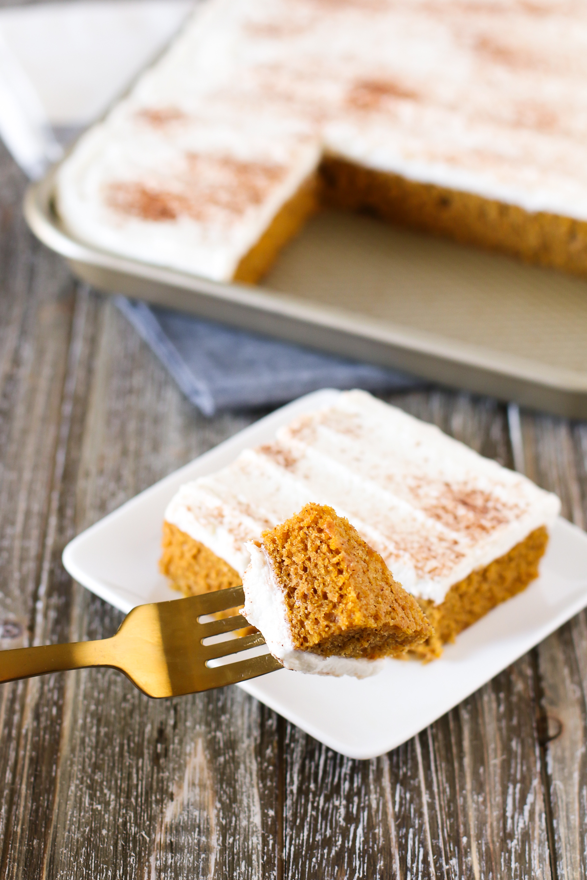 Gluten Free Vegan Pumpkin Bars. Moist pumpkin cake with all the fall spices, topped with the creamiest dairy free cream cheese frosting. this fall dessert is HEAVEN!