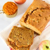 gluten free vegan pumpkin apple bread