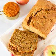 gluten free vegan pumpkin apple bread