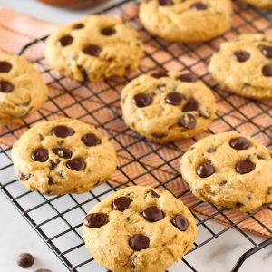 Gluten Free Vegan Pumpkin Chocolate Chip Cookies. Pumpkin, chocolate, spice and everything nice. That's what these cookies are made of!