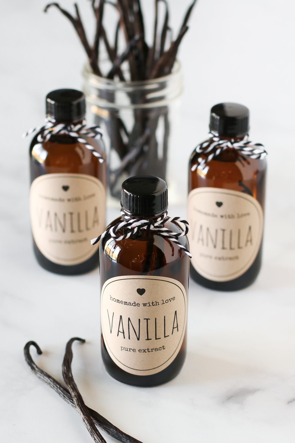 How to Make Homemade Vanilla Extract. Only a few easy steps to make your very own bottles of pure vanilla extract!