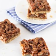 gluten free vegan pecan pie bars