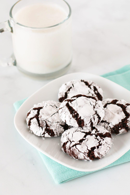 Gluten Free Vegan Chocolate Crinkle Cookies Sarah Bakes