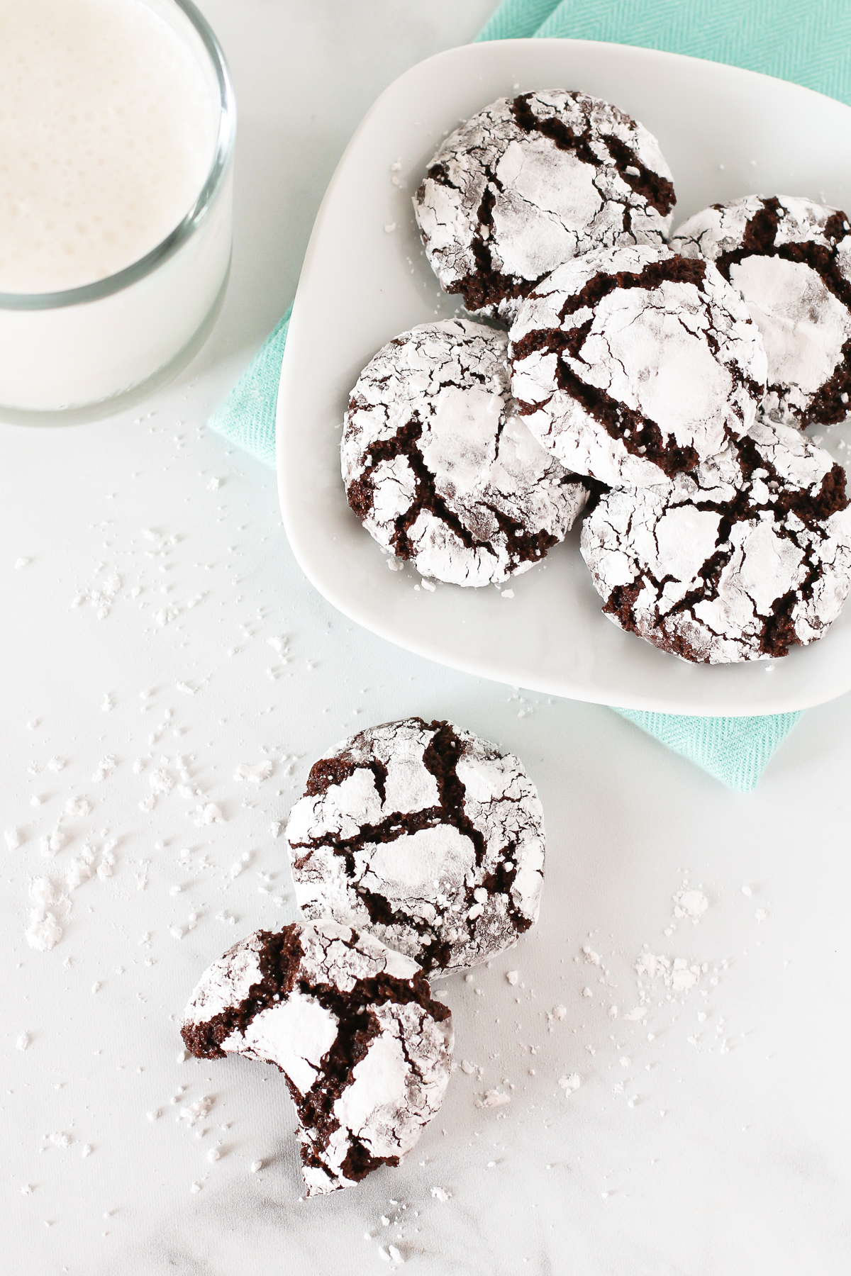 Gluten Free Vegan Chocolate Crinkle Cookies. The classic chewy chocolate cookie, coated in powdered sugar and completely irresistible.