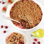 gluten free vegan cranberry pear crisp