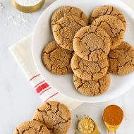 gluten free vegan molasses cookies