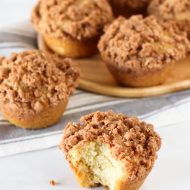 gluten free vegan coffee cake muffins