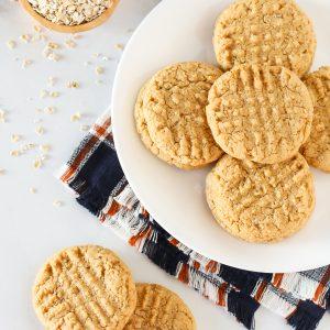 gluten free vegan peanut butter oatmeal cookies