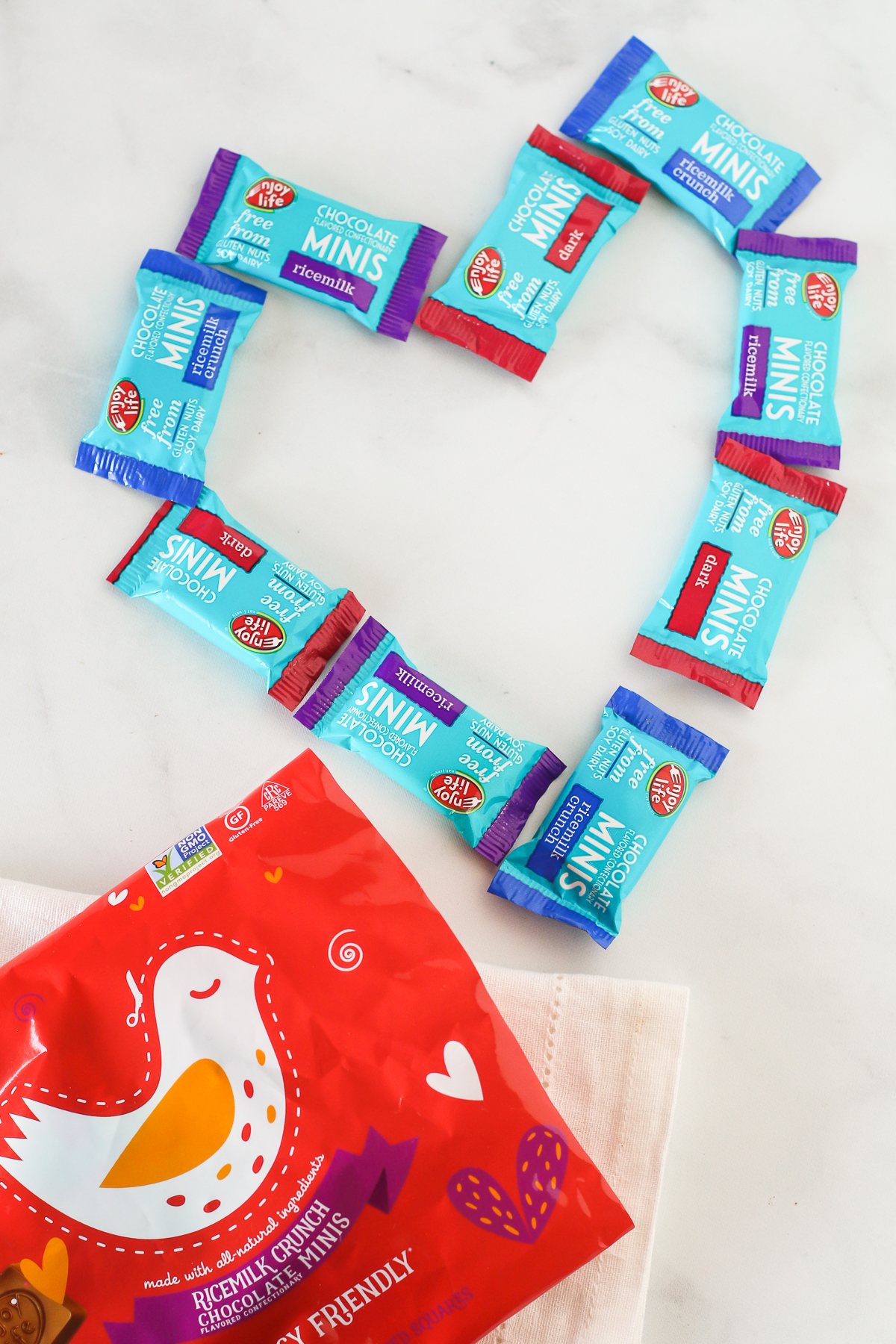 Chocolate Minis from Enjoy Life. These adorable little chocolate bars are free of the top 8 allergens!