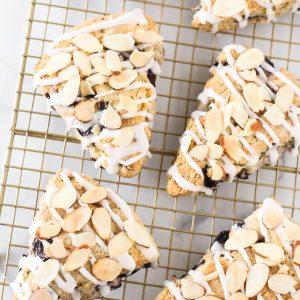 gluten free vegan cherry almond scones