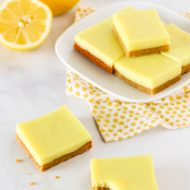 gluten free vegan lemon bars