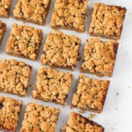 gluten free vegan peanut butter and jelly oat bars