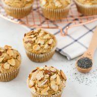 gluten free vegan almond poppyseed muffins