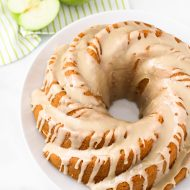 gluten free vegan caramel apple bundt cake