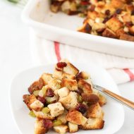 gluten free apple cranberry stuffing