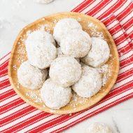 gluten free vegan snowball cookies