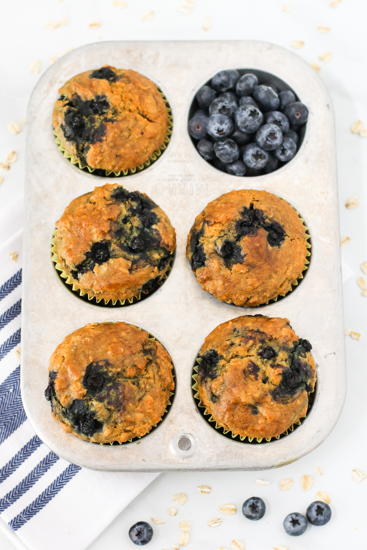 Gluten Free Vegan Blueberry Oatmeal Muffins. You are going to be quite smitten with these hearty blueberry oatmeal muffins!
