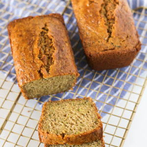 Gluten Free Vegan Zucchini Bread. Moist zucchini bread, baked to perfection. A slice of pure deliciousness!