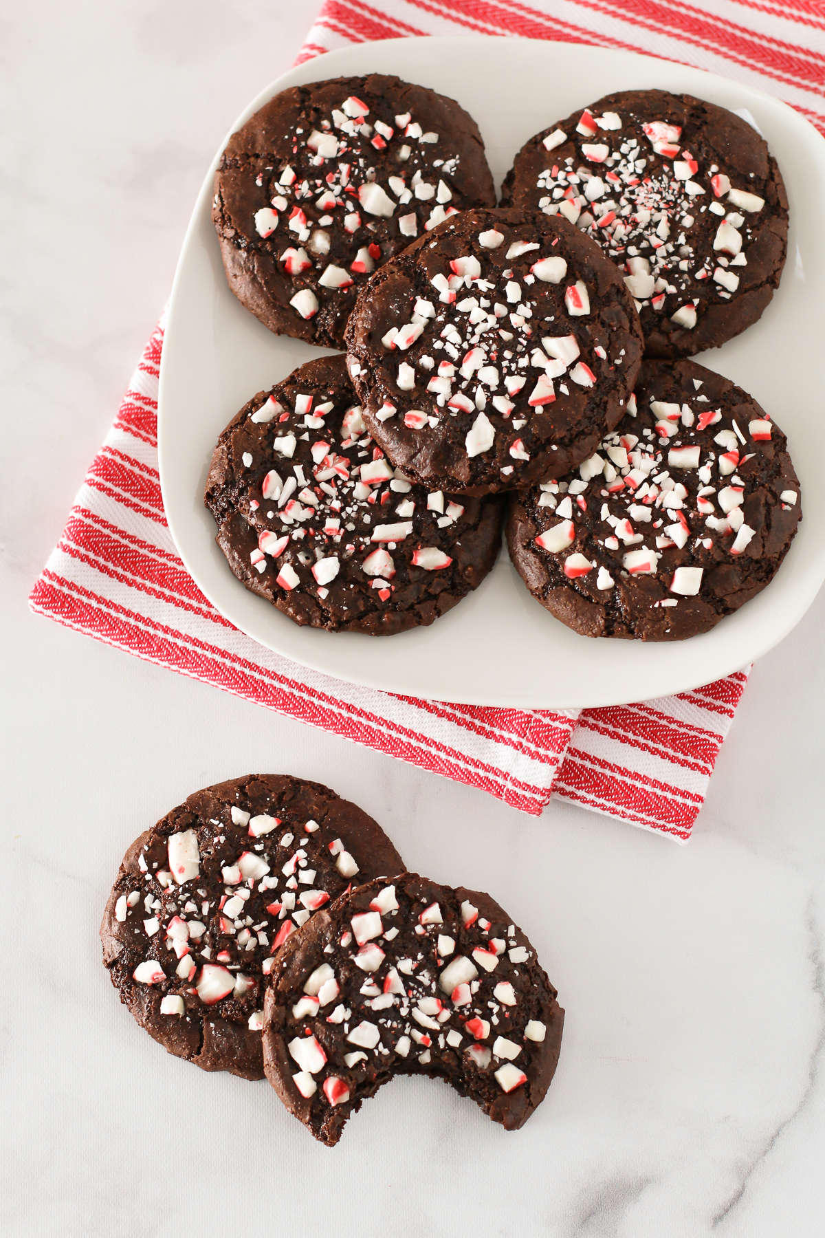 Gluten Free Vegan Chewy Chocolate Peppermint Cookies. These chocolate peppermint cookies are delicious and of course, full of holiday cheer!